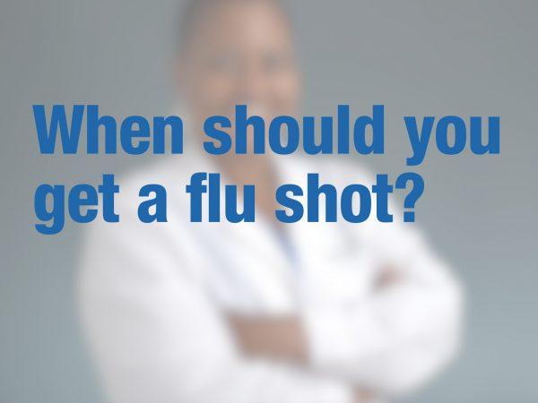 When should you get a flu shot? 1
