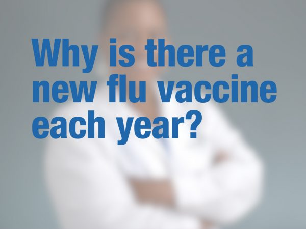 Why is there a new flu vaccine each year? 1