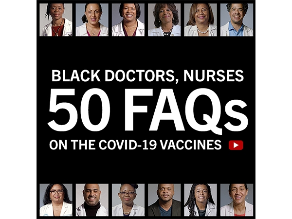 THE CONVERSATION - Black Health Care Workers - 50 FAQs Static & Motion Graphics