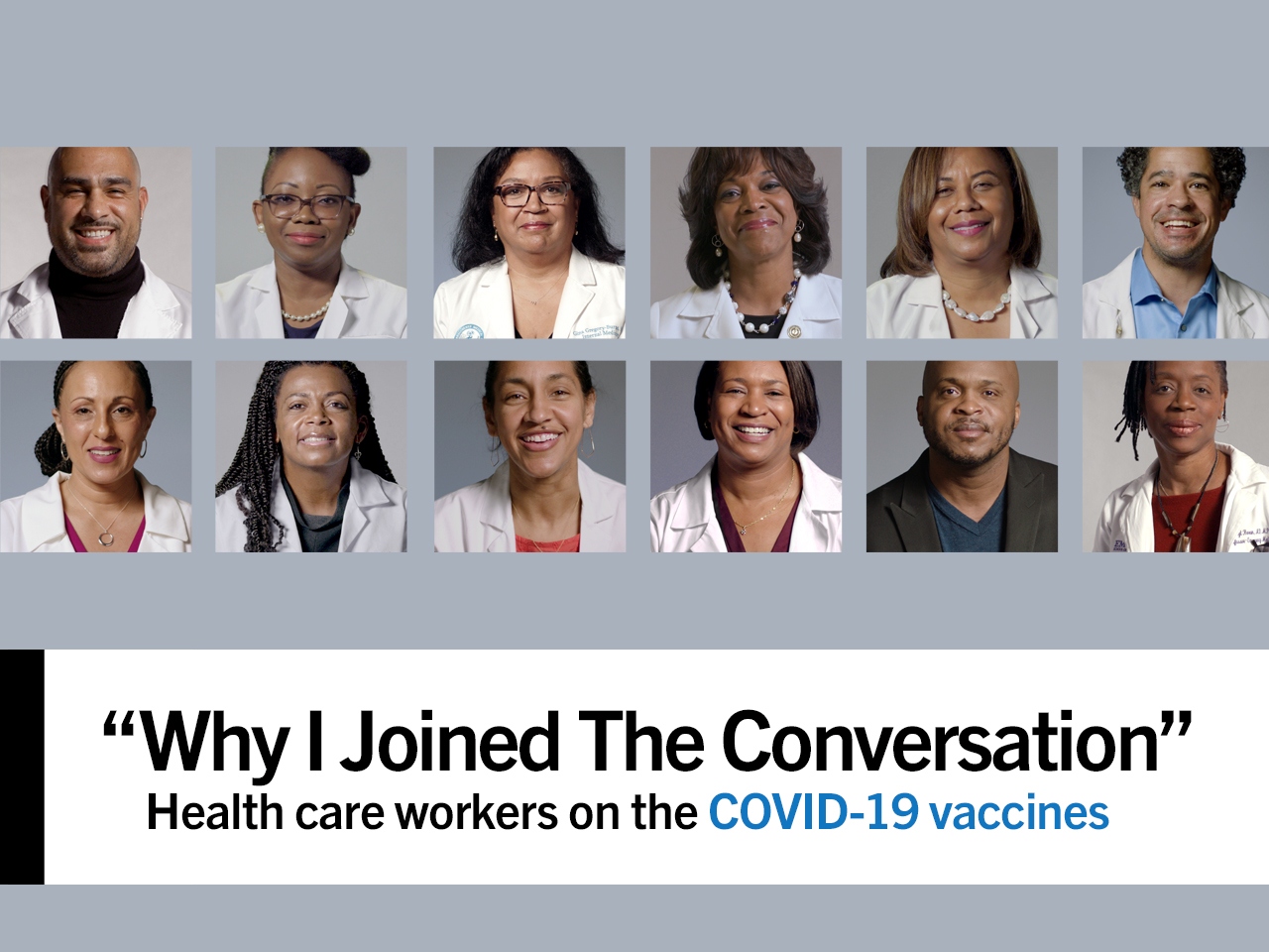 Why I Joined THE CONVERSATION - health care workers