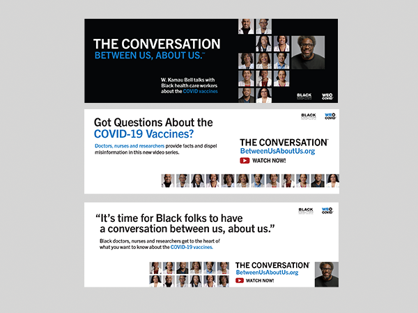 THE CONVERSATION - W. Kamau Bell and Black Health Care Workers - Social Media Headers